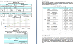 Written Descriptions of Each Energy Conservation Measure Example Page 1
